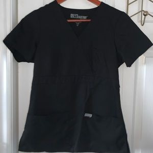 Black Greys Anatomy Scrub Top